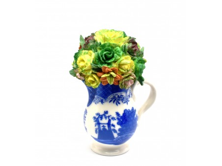 Flowers Pot influenced by timeless Leeds Pottery designs