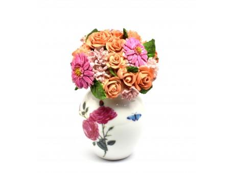 Flowers Pot influenced by popular Portmeirion design