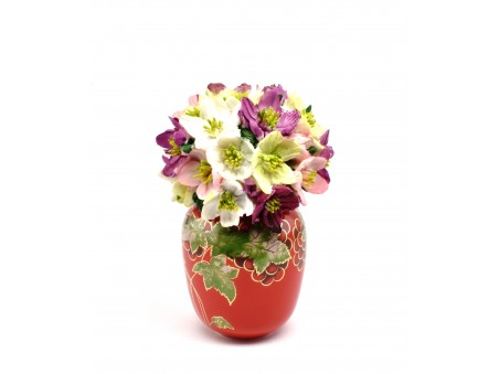 Flowers Pot in the style of Royal Doulton
