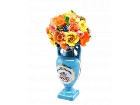 Flowers Pot in the style of sumptuous Sèvres