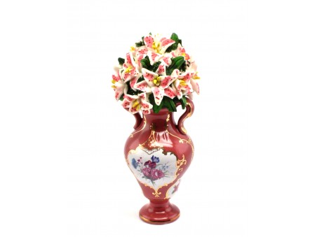 Flowers Pot in the style of exquisite Minton